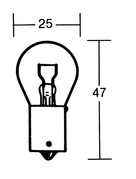 - Kein Hersteller - P21W bulb 12V 21W BA15s