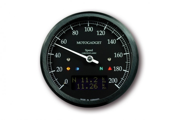 motogadget Chronoclassic speedo dark edition