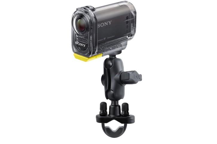 RAM Mounts Kamerahalterung (kurz) für Lenker/Rohre mit 1/4 Zoll-20 Gewindestift - mit Klemmschelle