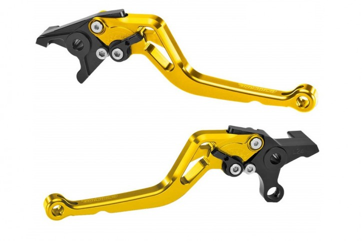probrake Clutch- & brake lever set MIDI, gold