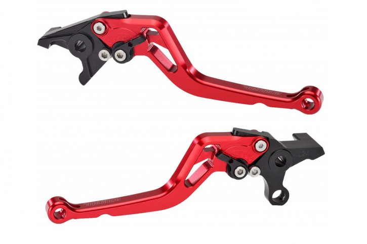 probrake Clutch- & brake lever set MIDI, red