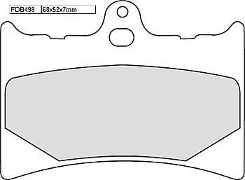 FERODO Disc brake pad FDB 498 P