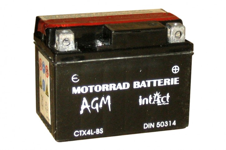 INTACT Bike Power Batterie CTX 4L-BS, wartungsfrei mit Säurepack