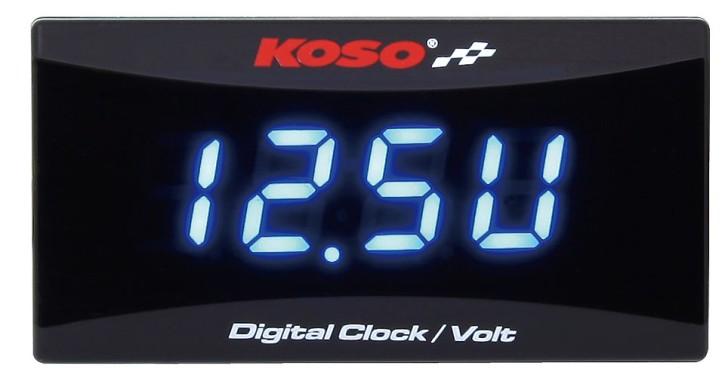 KOSO Volt meter/clock for all 12 Volt DC batteries