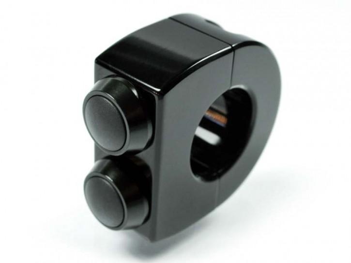 LAGERRÄUMUNG: motogadget M-Switch 2 Taster Armatur 22mm, schwarz
