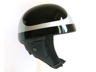 """Pudding-bassin""CAFE-RACER open face/JET-HELMET.Size M"