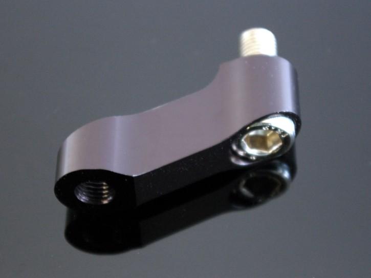 1 mirror offset adaptor, aluminium, black