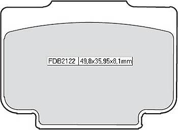 FERODO Disc brake pad FDB 2122 P