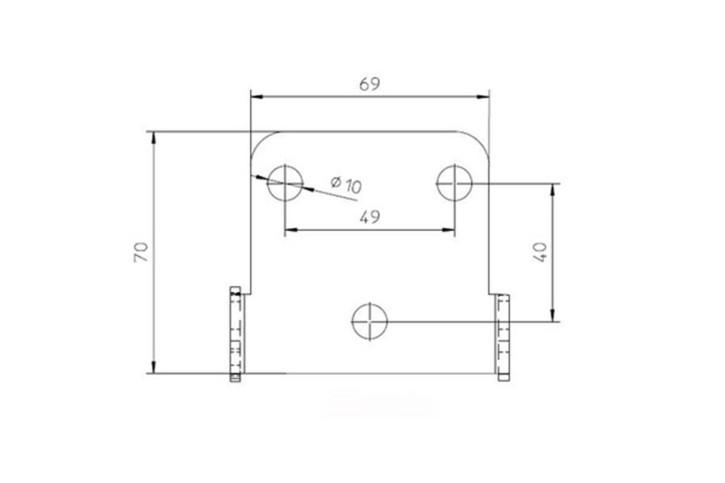 IBEX-Pro Kennzeichenhalter Universal Typ 3