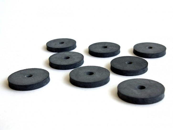 8 vibrationsdämpfende Gummischeiben