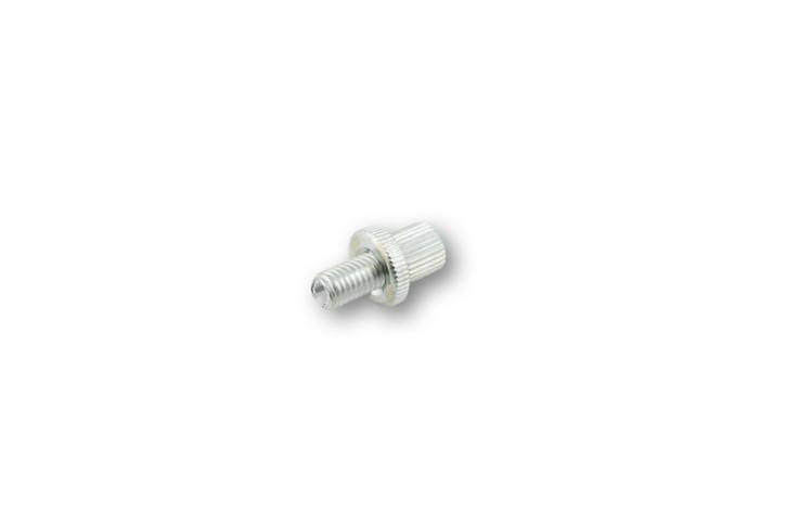 Einstellschraube für Kupplungs- oder Bremszug-Armatur silber eloxiert M8