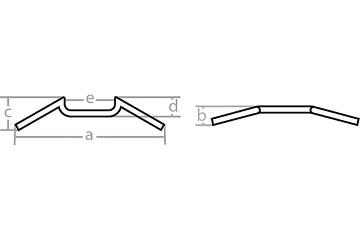 FEHLING Handlebar M-bar, chrome