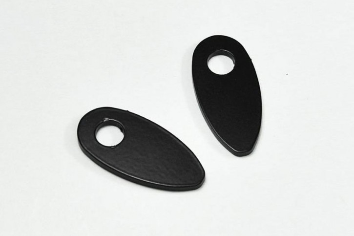 IBEX Mounting plates INDY SPACER stainless steel black for H-D and universal