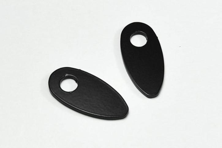 IBEX Montageplatten INDY SPACER Edelstahl schwarz für HD und universal