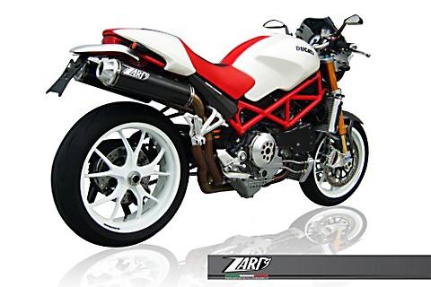 ZARD Auspuff Komplettanlage Top Gun DUCATI Monster S4R+S4RS Testastretta, 07, Titan