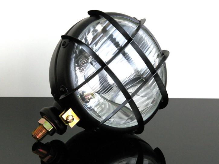 Enduro- / Scrambler-SCHEINWERFER Oldstyle, mit Gitter inkl. Leuchtmitteln
