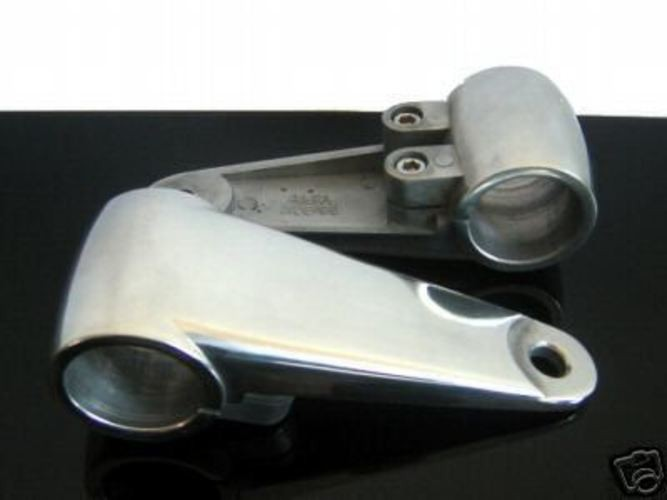 2 Alu-LAMPENHALTER / headlight bracket 38 mm