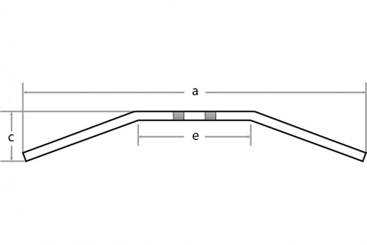 FEHLING Drag Bar Large, 1 Zoll, 92cm, schwarz