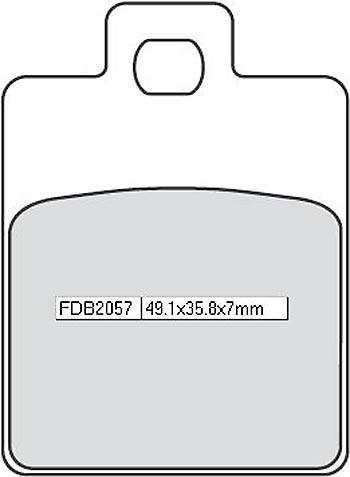 FERODO Disc brake pad FDB 2057 EF