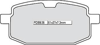 FERODO Disc brake pad FDB 636 AG