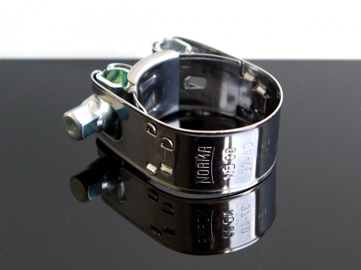 AUSPUFFSCHELLE, Exhaust Pipe Clamp, Edelstahl Ø36-40mm