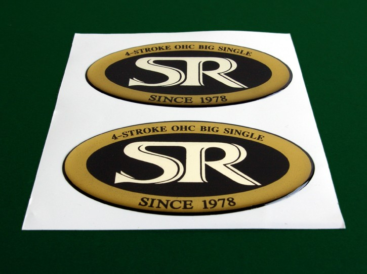 2 YAMAHA SR 400/500/SR500 stickers / badges