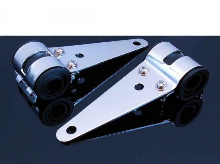 LAMPENHALTER (headlight brackets), 31-36 mm, chrom