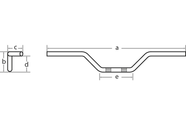 FEHLING Fat FLYER BAR, black, 1 1/4 stepped, W 91cm