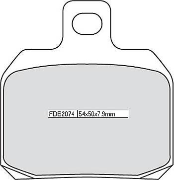 FERODO Disc brake pad FDB 2074 EF