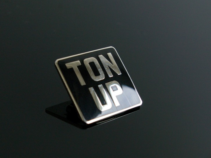 """Ton Up"" Cafe Racer Pin / Badge"