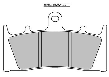 FERODO Disc brake pad FDB 2144 P