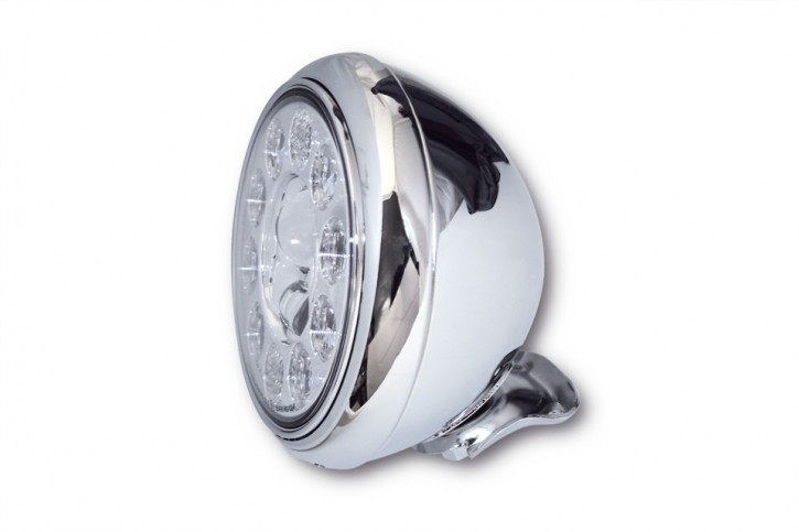 HIGHSIDER 7 inch LED headlamp HD-STYLE TYPE 1, bottom mount