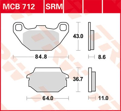 TRW Lucas Disc brake pad MCB712