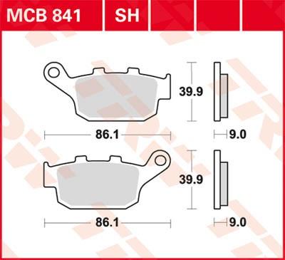 TRW Lucas Disc brake pad MCB841