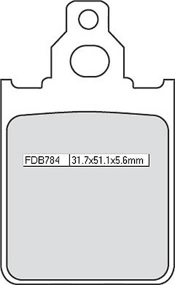 FERODO Disc brake pad FDB 784 AG