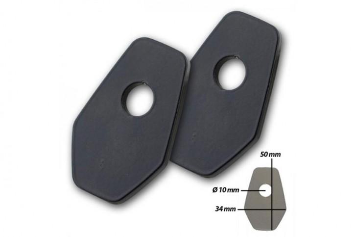 IBEX Montageplatten INDY SPACER Edelstahl schwarz für SUZUKI GSX-S 1000