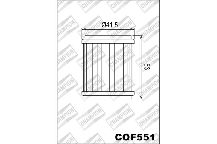 CHAMPION Oil Filter COF551 for KTM 690, HUSQVARNA 701