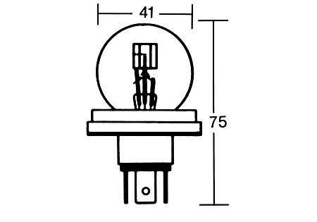 - Kein Hersteller - R2 bulb 6V 45/40W P45T