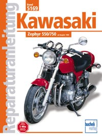Motorbuch Engine book No. 5169 repair instructions KAWASAKI 550/750 Zephyr (1990-)
