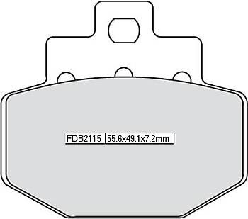 FERODO Disc brake pad FDB 2115 EF