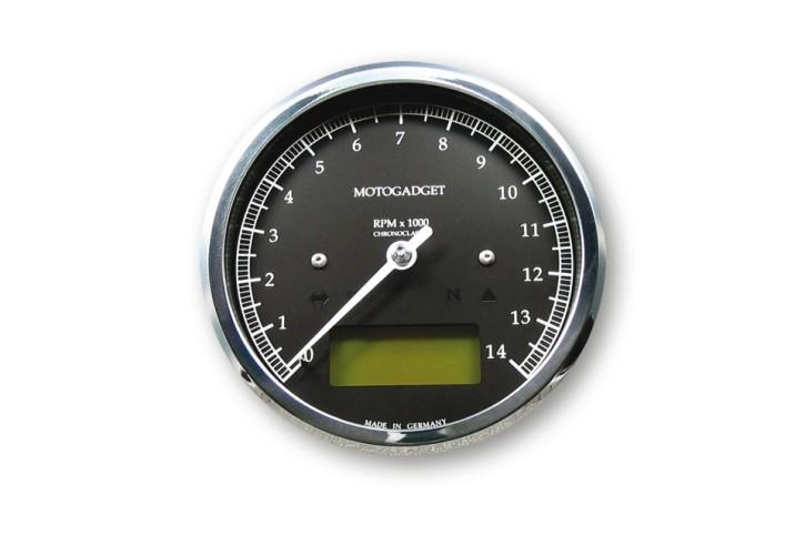 motogadget Chronoclassic rev counter -14.000 RPM, green LCD
