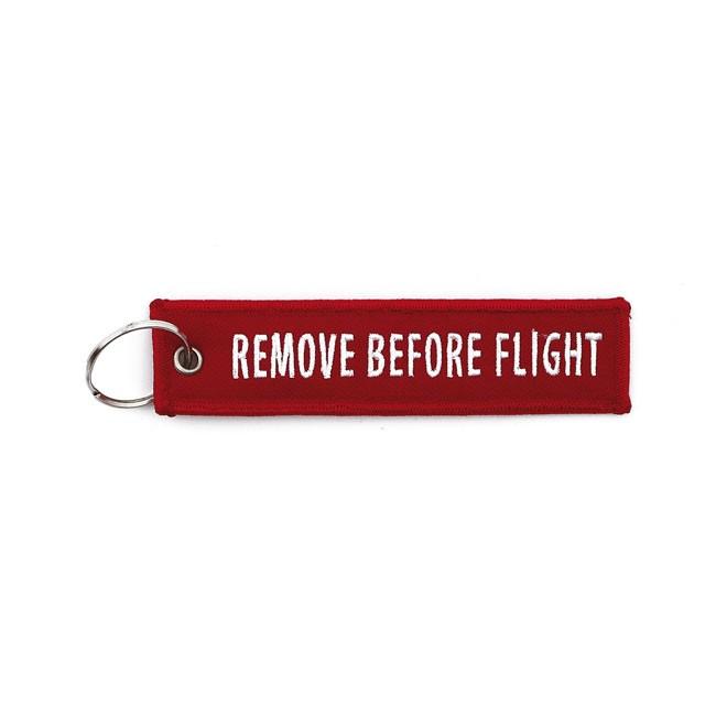 """Remove before Flight"" Keyring"