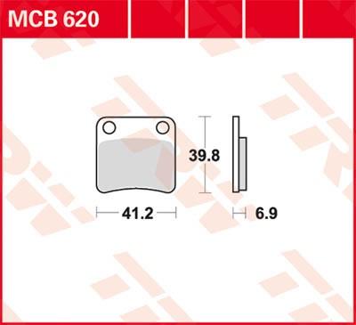 TRW Lucas Disc brake pad MCB620