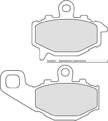 FERODO Disc brake pad FDB 2012 P