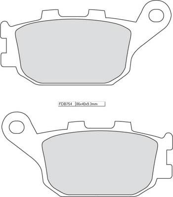 FERODO Bremsbelag FDB 754 Platinum