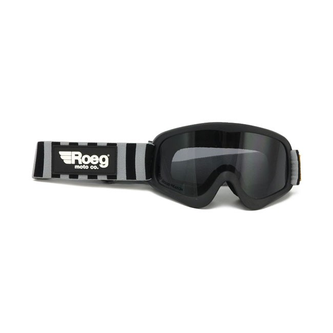 ROEG® PERUNA smoked goggles, black with striped strap