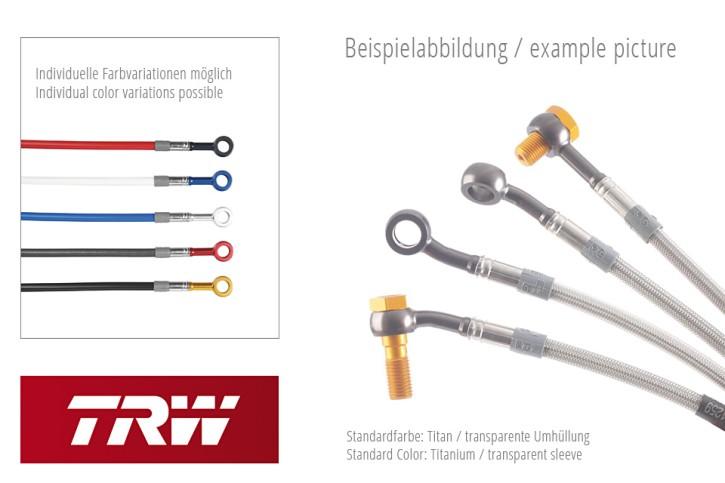 TRW Lucas Steel braided hoses kit MCH437V4, front