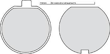 FERODO Disc brake pad FDB 181 P