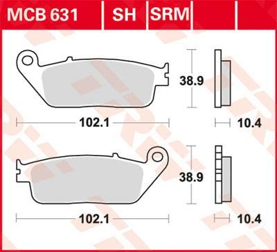TRW Lucas Sinter disc brake pad MCB631SH