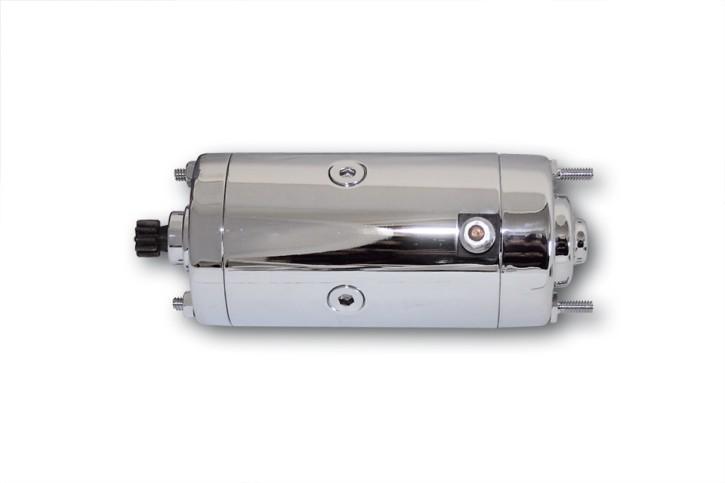motoprofessional Anlasser, chrom, für div. HD, FLH/FLT/FXR/XL 75-83, Prestolite.